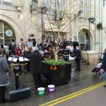 Carols (and singers!), Chippenham High Street, Dec 2012